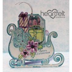 Heartfelt Creations - Sleigh Shaped Christmas Card Project