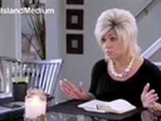 Long Island Medium bitch.   Enough said, if you watch you may suddenly want those minutes of your life back.