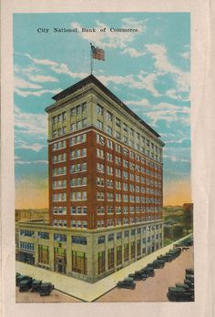 City National Bank of Commerce from Wichita Falls, Texas, postcard booklet Wichita Falls Texas, City National, Central Texas, Booklet, Louvre, Memories, World, Places, Travel