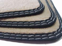 Fußmatten Mercedes MP4 Actros Original Qualität Auto-Matten Beige Doppelnaht