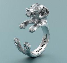 Dalmatian Breed Jewelry Cuddle Wrap Ring