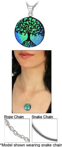 Dichroic Glass Tree of Life Necklace at The Hunger Site