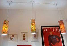 Bendito Lixo - Artesanato Reciclado: Luminária com cúpula de PVC