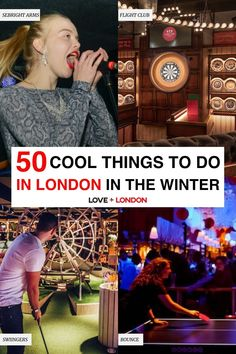 Fun activities to do in London when it's too cold to be outside. Classes and workshops to do, tours that are winter-proof, indoor sports and activities and more ideas for what to do in London in the winter. London Winter, London Christmas, Visit England, London Tips, Hampstead Heath, Flight Club, Fun Activities To Do, Stuff To Do, Cool Stuff