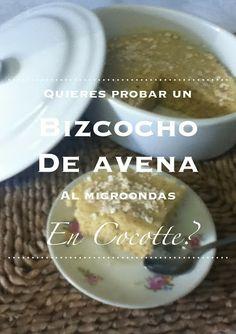 rezetas de carmen: Bizcocho express de avena en cocotte al microondas (videoreceta)