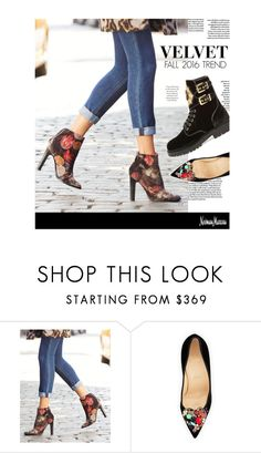 """""""Fall Trend: Velvet"""" by neimanmarcus ❤ liked on Polyvore featuring Joie, Christian Louboutin and Balmain"""