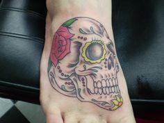my new sugar skull tat <3