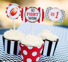 free football cupcake topper printables