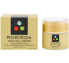 Rosveda AHA Cell Cream 100% Φυτική Σύνθεση Αντιγηραντική Φροντίδα Νύχτας, Θεραπεία Αναδόμησης της Στοιβάδας της Επιδερμίδας 50ml. Μάθετε περισσότερα ΕΔΩ: https://www.pharm24.gr/index.php?main_page=product_info&products_id=12713