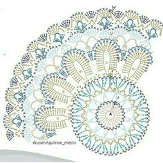 Crochet everything. Motif Mandala Crochet, Crochet Doily Diagram, Crochet Circles, Crochet Stitches Patterns, Crochet Chart, Crochet Squares, Crochet Dollies, Crochet Diy, Crochet Round