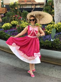 Hand Painted Pink Cinderella Parasol for Dapper Day - Redhead Baby Mama Dapper Day Disneyland, Disney Dapper Day, Disneyland Outfits, Disney Day, Disneyland Trip, Disney Parks, Dapper Day Outfits, Date Outfits, Girl Outfits