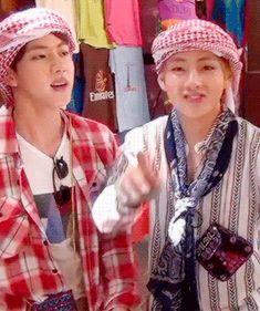 BTS   JIN and V Dubai