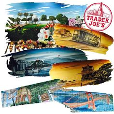 Trader Joe's murals, San Francisco. Because, murals. They're everything! . #Art #Mural #Murals #TraderJoes #Masonic #SF #SanFrancisco #Realtor #RealEstate #ColdwellBanker