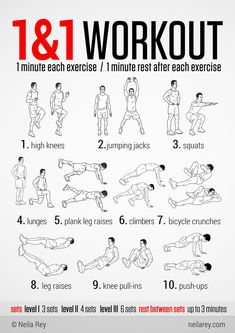 1&1 High Intensity Workout... this will make you appreciate how long a minute is!