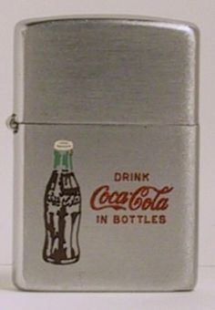 1953 Zippo with Coca-Cola in Bottles Coca Cola Ad, Coca Cola Bottles, Pepsi, Coke, Custom Lighters, Cool Lighters, Advertising Slogans, Advertising History, Cool Zippos