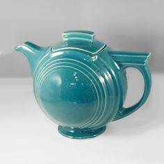 Hall China BASKETBALL Teapot, Turquoise