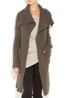Sweater Coat Long oCf18O