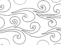 """Wind Water - Paper -10"""" - Quilts Complete - Continuous Line Quilting Patterns"""