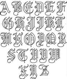 Old cursive alphabet images of cursive letters old for Flowy tattoo fonts