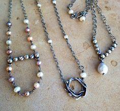 Julianne Van Buskirk Sterling silver and pearls.