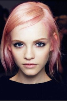 pastel peach pink hair short