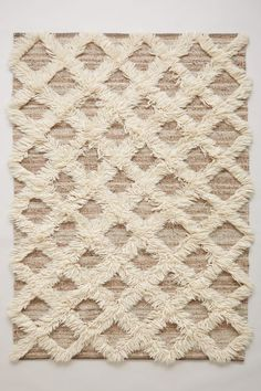 Lattice Flokati Rug - anthropologie.com 5x7, $448