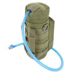 Condor Water Pouch is designed to carry the water bottle via shoulder, modular webbing, or belt. It features hydration tube pass-thru, front accessory pocket, and heavy duty webbing for modular attachments. Tactical Pouches, Molle Pouches, Tactical Bag, Survival Blog, Camping Survival, Outdoor Survival, Survival Gear, Bushcraft, Trekking
