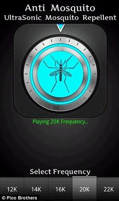 Phone software mimics the sounds of predators to repel biting females!