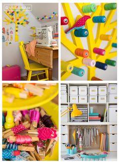 Ordning och reda, studio-gul.se, Marie Samnegård & Linnea Fennhagen. DIY spool storage. Nice and tidy in your craft room.