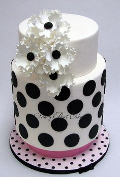 Black and white wedding cake inspired by Princess Lasertron designs!  www.fancythatcake.ca