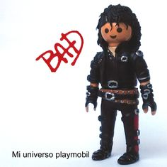 una de mis versiones de MIchael Jackson customizado en playmobil