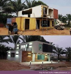 storage container homes plans how to build Building A Container Home, Storage Container Homes, Container Buildings, Container Shop, Container Architecture, Shipping Container Home Designs, Shipping Containers, Shipping Container Cabin, Shipping Crates