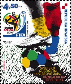 FIFA World Cup 2010 South Africa commemorative postage stamp from Croatia