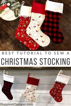 New Screen beginner sewing tutorials Concepts Best Tutorial to Sew a Christmas Stocking. I love how these Christmas Stockings came out. I am mak Christmas Sewing Projects, Sewing Projects For Beginners, Christmas Diy, Christmas Sewing Gifts, Christmas Decorations, Christmas Tables, Nordic Christmas, Modern Christmas, Christmas Angels