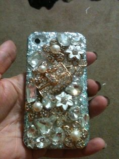 Golden purse case for iPhone 4/4s case  by DazzlingCases on Etsy, $30.00