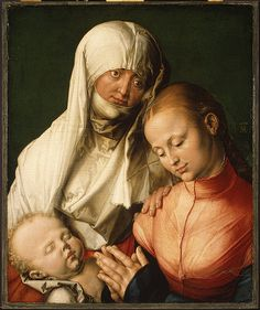 Albrecht Dürer | Virgin and Child with Saint Anne, probably 1519, oil on wood. The Metropolitan Museum of Art, New York.