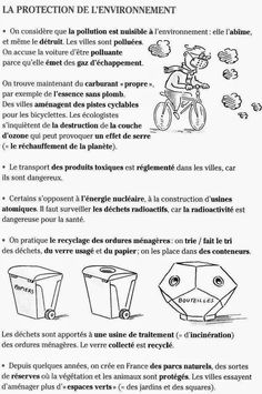 Le Cahier de Français: L'ENVIRONNEMENT