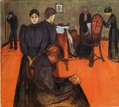 The Athenaeum - Death in the Sick Chamber (Edvard Munch - )