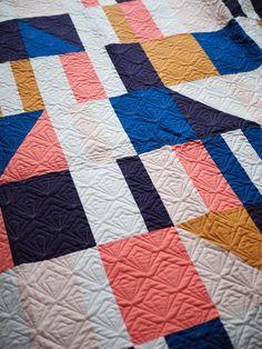 New Year, New Patterns! – Then Came June - Sidewalk Chalk Quilt Pattern - Modern, Beginner Quilt, Improv Quilt