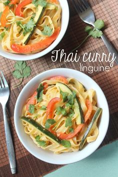Thai curry linguine
