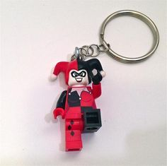 Harlequin Pendant or Keychain Cool Lego, Awesome Lego, Lego Jewelry, Lego Sculptures, Lego Blocks, Send A Card, Living Without You, Im Batman, Joker And Harley Quinn
