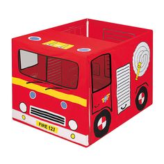 Fire Engine Playhouse - I want to do this with a cardboard box!  Hmmmm....