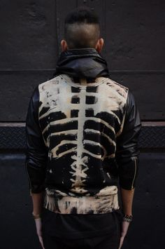 #mens #fashion #skeleton #jacket