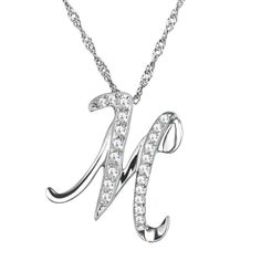 afa035ee4e54 BUDONG Real 925 Sterling Silver Slide Pendant for Women Fine Jewelry  Initial Letter M for Memory Design Pendant without Necklac. Helena Benson ·  Necklaces ...