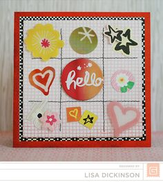 LOVE this card by Lisa Dickinson using the NEW Highline collection from Basic Grey