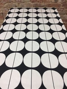 Black tablecloth with white circles Scandinavian design, modern style, black and white tablecloth