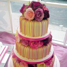 Multi colored wedding cake | Wedding {Cakes}