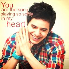 """David Archuleta! Song lyrics are from """"You're  my Song"""""""