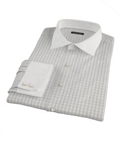 Pale Gray Gingham by Proper Cloth