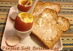 Do you want to know how to make the PERFECT soft boiled egg?   Follow these steps you will get the perfect soft boiled egg. http://recipesingoodtaste.com/?p=7373